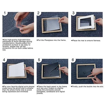 Amazon.com - Soonrada 11x14 inch Picture Frames Set - 4 Pack, Wall ...