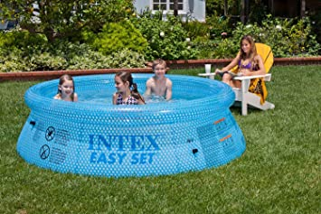 Intex 54910 Easy Set Clearview - Piscina Hinchable (76 x 244 cm ...