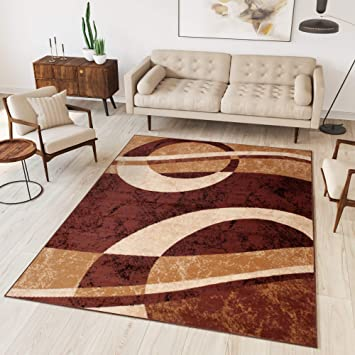 Teppich Wohnzimmer Grau Modern S-XXL Kurzflor 120x170 160x230 200x300 300x400