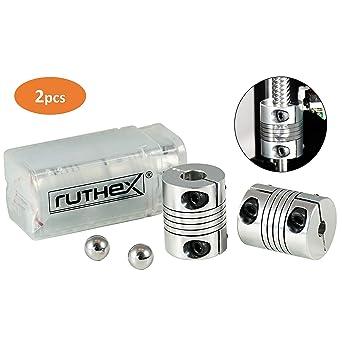 ruthex impresora 3D que acopla 5x8mm [2 piezas] con 2 bolas de ...