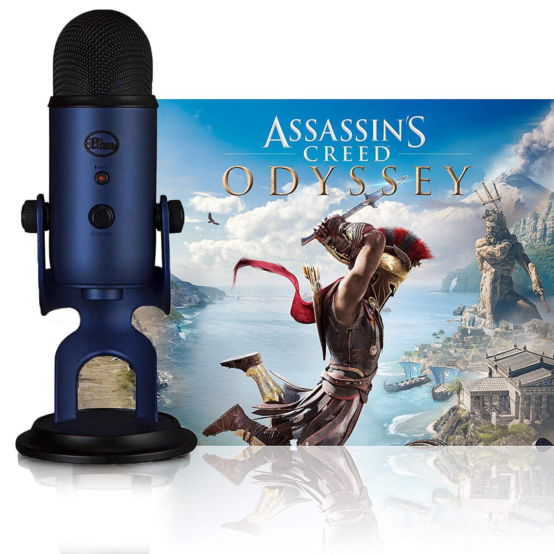 Blue Microphones Midnight Blue Yeti w/Assassin's Creed Odyssey Streamer Bundle
