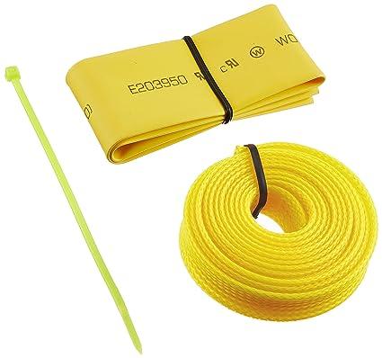d2fbbe3fa483 Amazon.com: Bitspower UV-Reactive Cable Sleeve Kit, Yellow ...