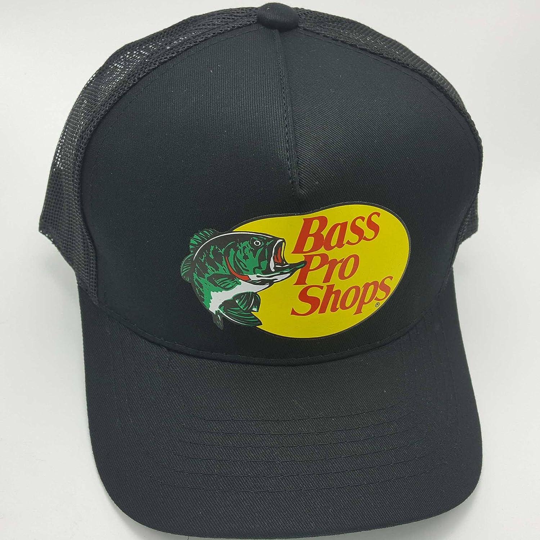 Bass Pro Shops Chapeau Logo Brodé Maille Pêche Chasse TRUCKER CAP Casquette Snap Back
