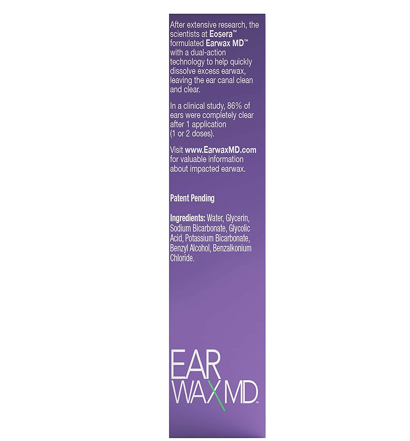 Earwax MD, Ear Wax Removal Drops for Ear Cleaning