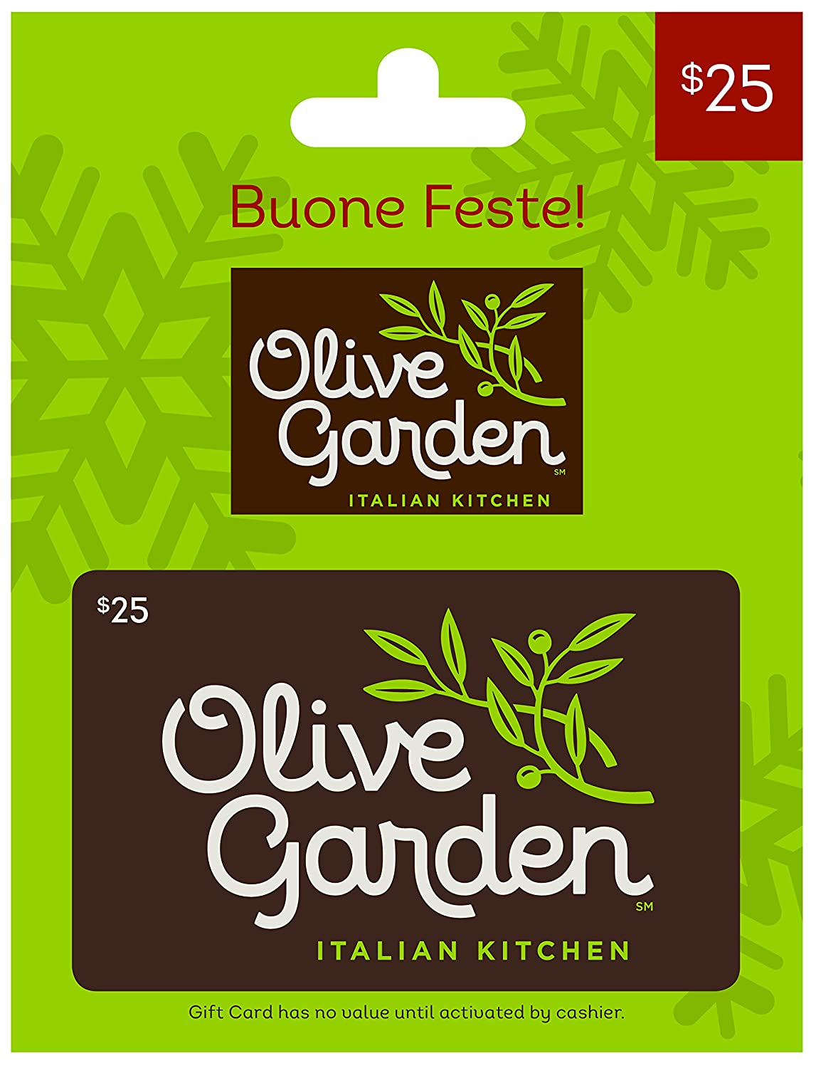 Amazon Com Olive Garden Holiday 25 Gift Card Gift Cards