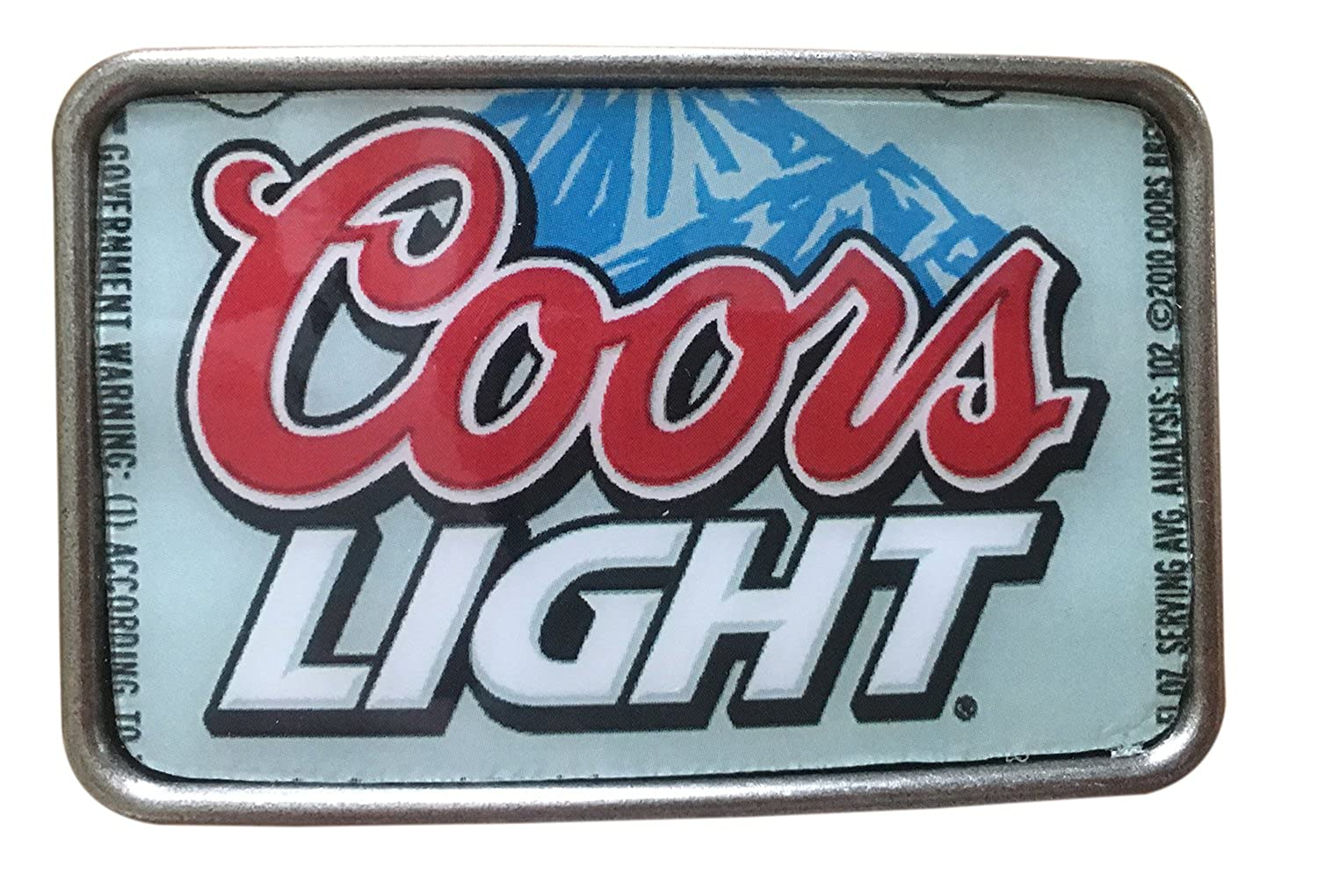 Hand Made Vintage Style COORS LIGHT Beer Can Belt Buckle
