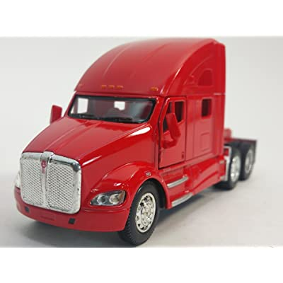 Kinsmart Red Kenworth T700 Tractor 1/68 S Scale Commercial Diecast Truck: Toys & Games