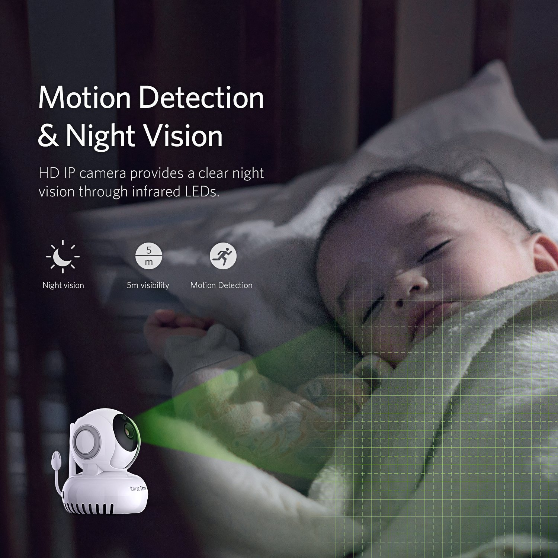 Katze-Tatze WiFi Camera, Baby Monitor WiFi Home Surveillance IP Camera Baby/Pet/Nanny Monitor, Work Echo Show Alexa, 2-Way Audio & Night Vision, Pan/Tilt, Motion Detect by Katze-Tatze (Image #3)