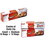 Zipouch Daily Zip Small and Medium(18 x 19 x 23 x 25 cm)-Pack of 10