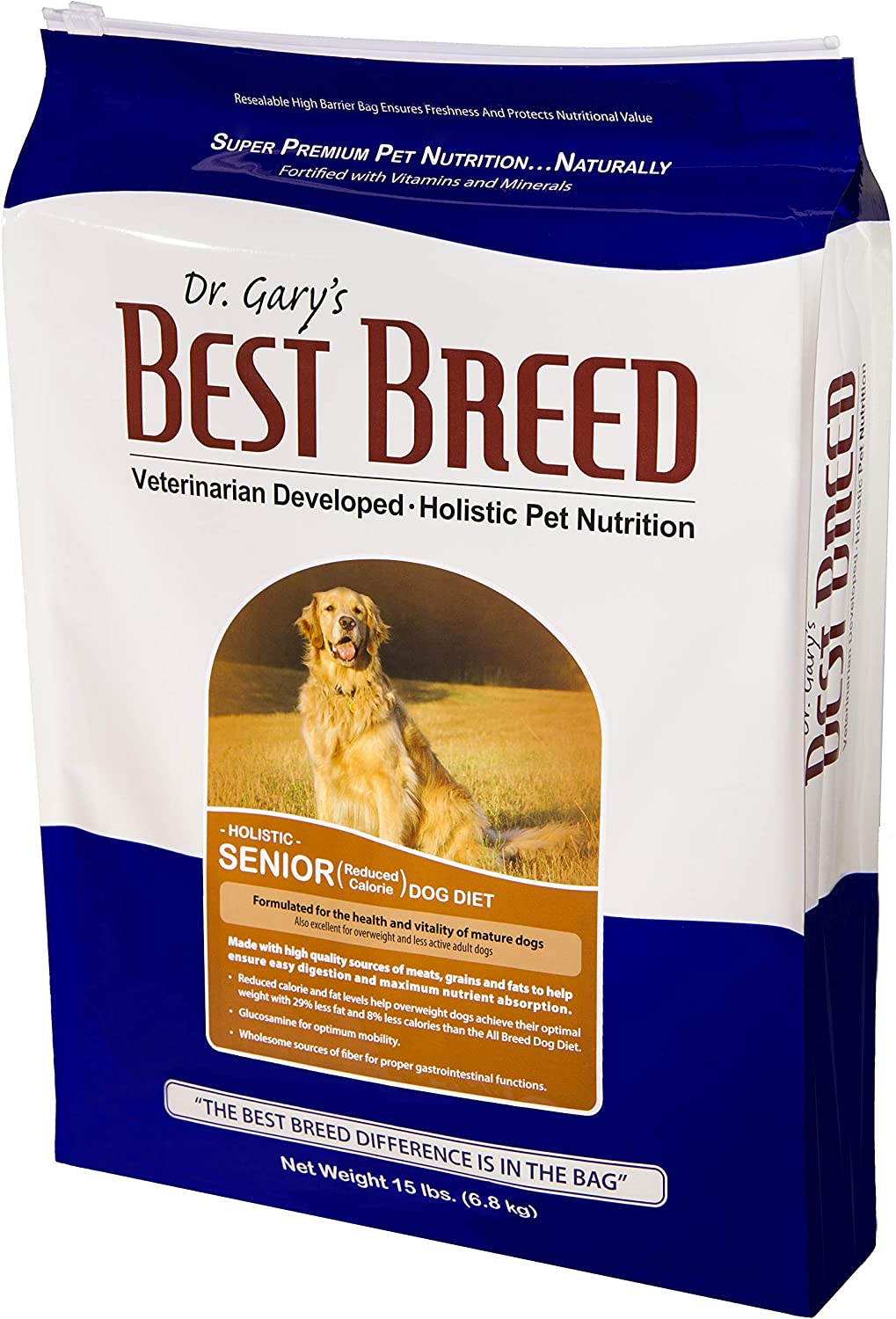 Best Breed Senior Dog Diet (Reduced Calorie) Made in USA [Natural Dry Dog Food]