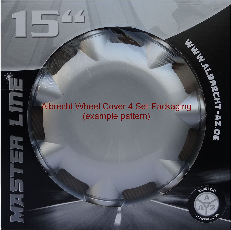 1 Set of 4 Units Grey ALBRECHT automotive 09745 Car Wheel Trims Wind 15  inches