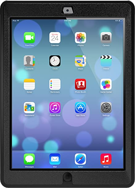 best service 0fea2 11eb6 Otterbox Defender Series Case for iPad Air - Frustration Free Packaging -  Black