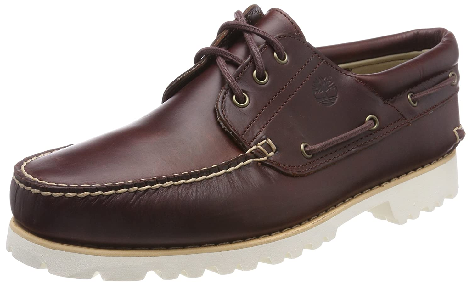 2c6090073ea Timberland Men's Chilmark 3 Eye Hands Leather Boat Shoes, Brown