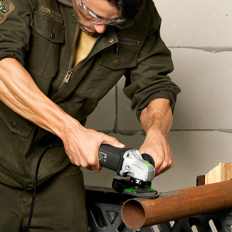 Meuleuse dangle GALAX PRO 500W 115mm Outil de meuleuse dangle avec 2 roues M14 pour le meulage//d/écoupage