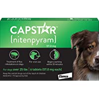 Elanco Animal Health Capstar Fast-Acting Oral Flea Treatment for Large Dogs, 6 Doses, 57 mg (26…