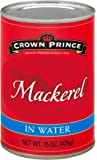 Crown Prince Jack Mackerel in Water, 15-Ounce Cans (Pack of 12)