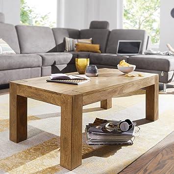 FineBuy Massiver Couchtisch PATAN 110 x 60 x 40 cm Akazie Holz ...