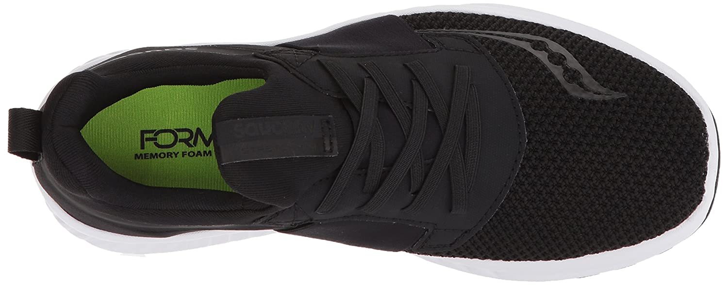 Saucony Women's Stretch N Go Breeze Running Shoe B072QH1FJY 7.5 B(M) US|Black