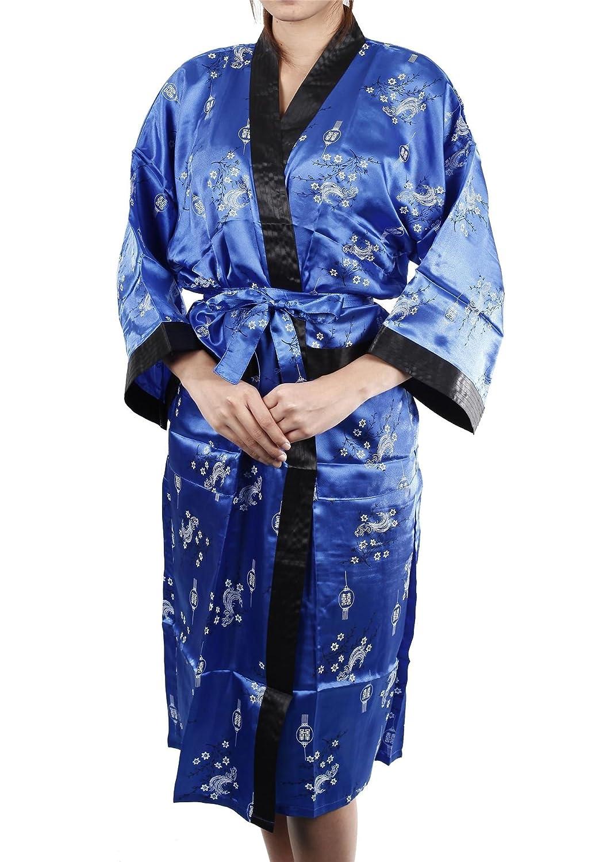 Lofbaz Women's Patterned Kimono Design #2 Blue One Size