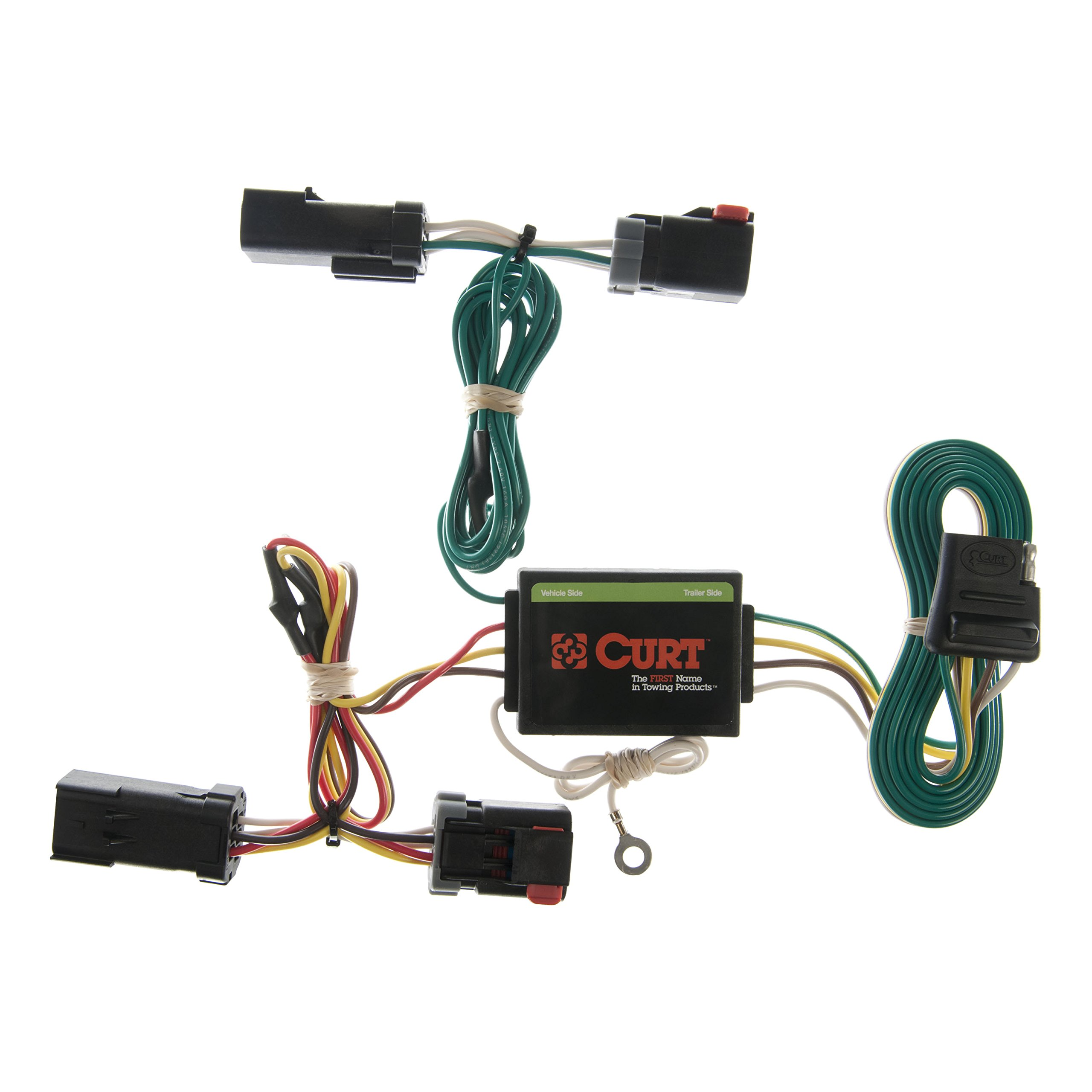 CURT 55382 Vehicle-Side Custom 4-Pin Trailer Wiring Harness for Select Jeep Liberty by CURT