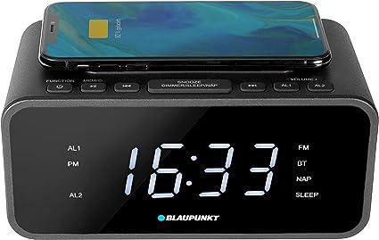 Fonction Bluetooth r/éveil Radio avec r/écepteur FM PLL et Chargement sans Fil BLAUPUNKT CLR-B 120 Radio Radio avec Station de Charge