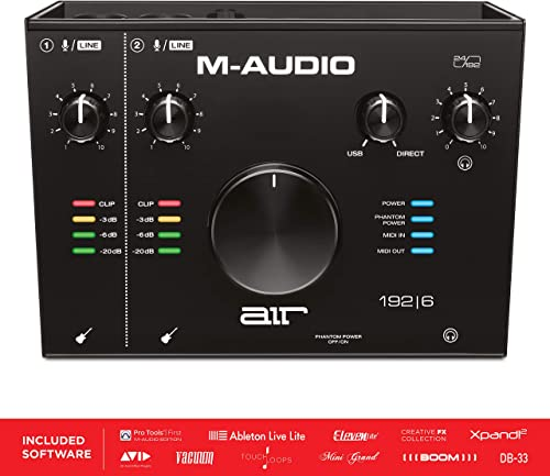 M-Audio AIR 192|6 - 2-In 2-Out USB Audio / MIDI Interface