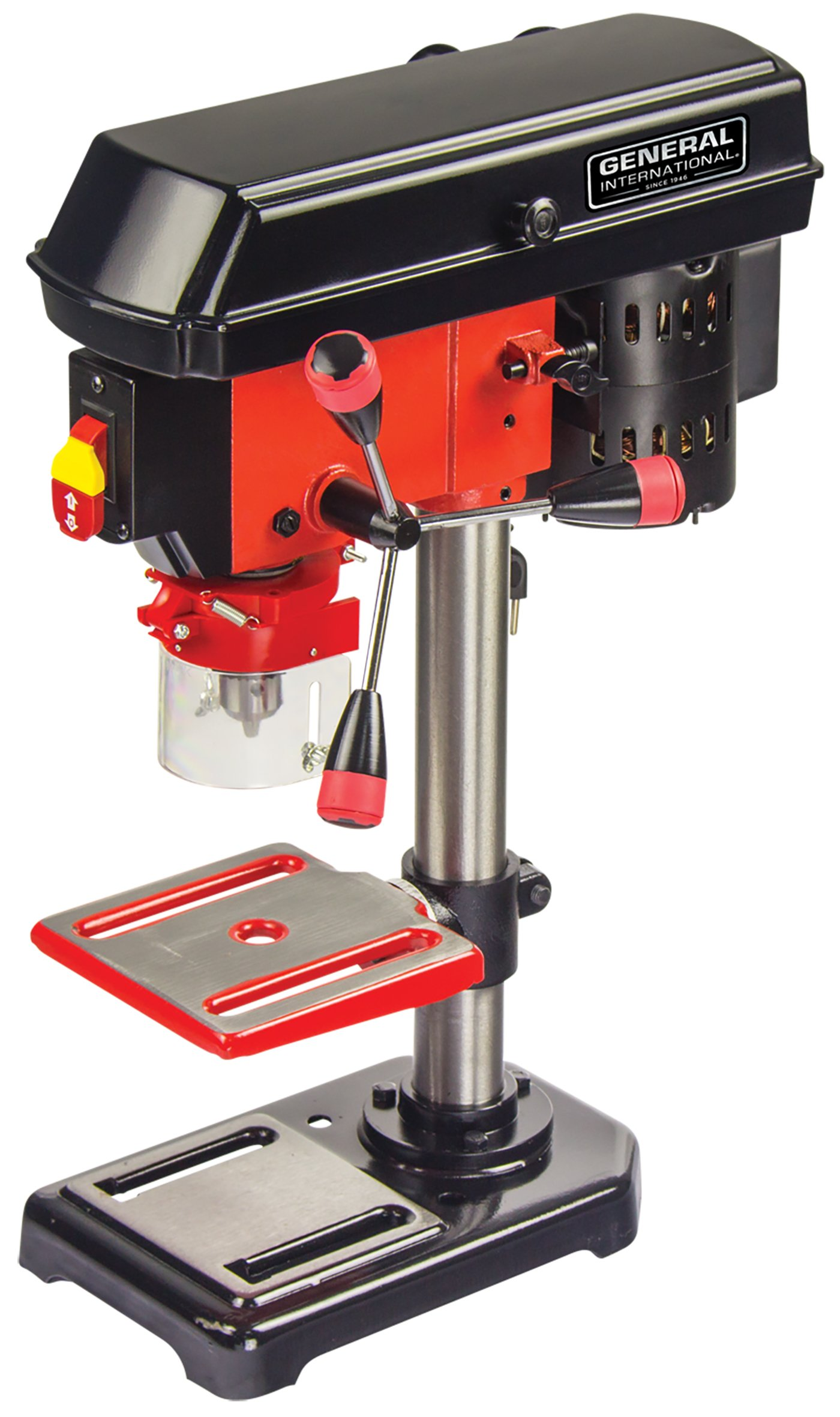 General International General Intl DP2001 5-Speed Drill Press, 8'', Red, Black & Gray