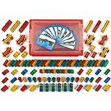 Klein 0136 - Jeu de construction - Bac Manetico avec couvercle transparent, 104 pièces et 12 cartes