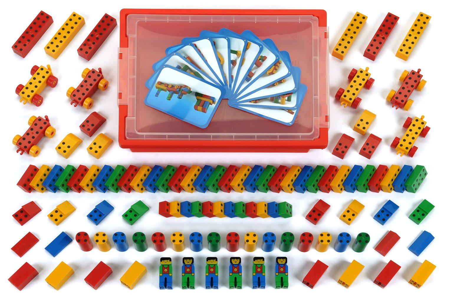 Theo Klein 136 0136-ManeticoBox 1+ with 104 Pieces, Multi-Colored