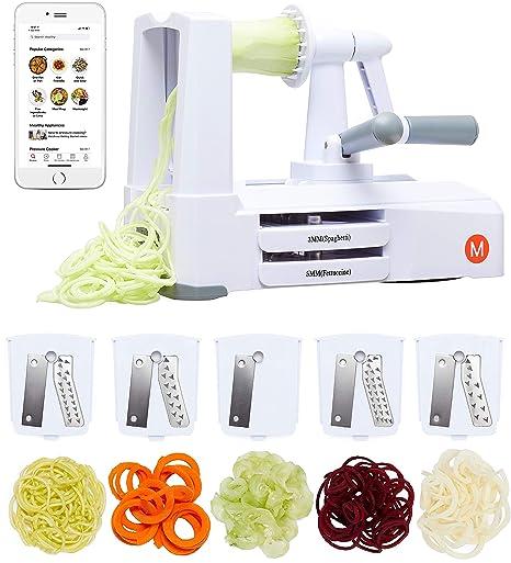 Amazon.com: Espiralizador Mealthy de 5 cuchillas para cortar ...