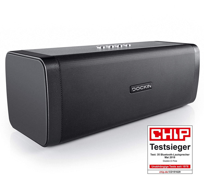 Altavoz estéreo DOCKIN D Fine Bluetooth de Alta fidelidad y Sonido de Alto Rendimiento; batería