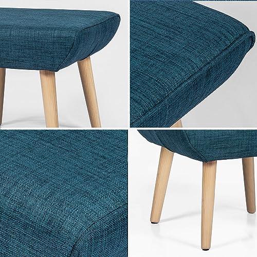 Edeco Square Ottoman Fabric Foot Rest Stool - a good cheap ottoman chair