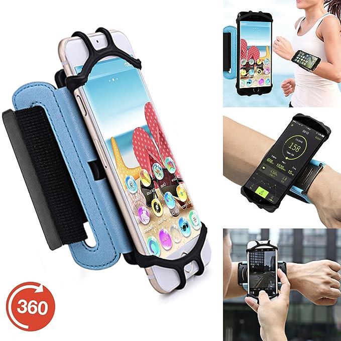 Outdoor Handy Schutzhülle | für Blackview BV5000 | Multifunktional Sport armband | zum Laufen, Joggen, Radfahren | SPO-3 Blau