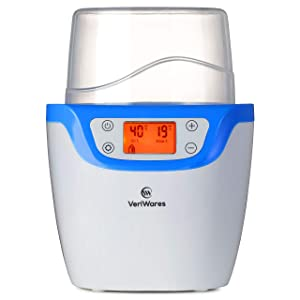 Baby Bottle Warmer Bottle Sterilizer-Food Warmer with Led Screen Temperature Monitor Anti-Dust Cover Design