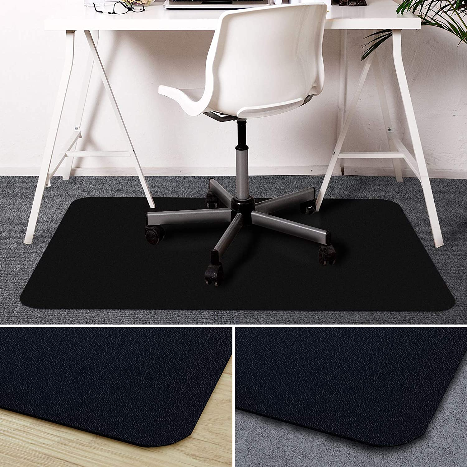 Amazoncom Office Marshal Black Office Chair Mat With Lip 30 X