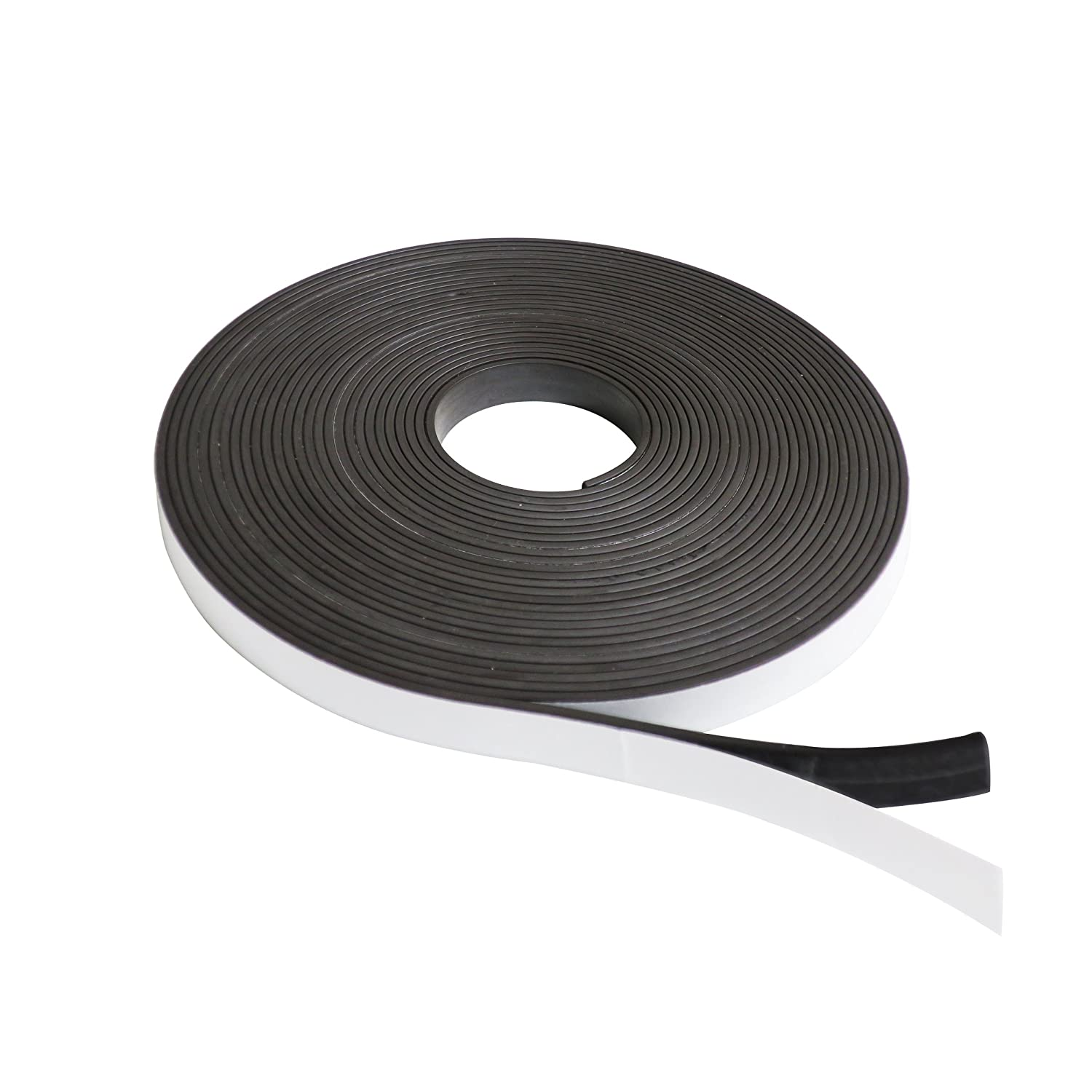 Dabit Quality Magnetic Tape | Magnetic Strip on 1 Side, Self-Adhesive on the Other | Ideal for Crafting Fridge Magnets, Flexible magnetic roll for DIY Projects & Dry Erase Boards