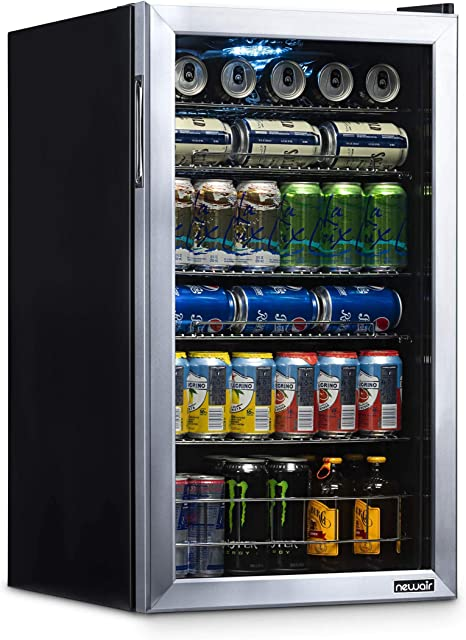 Beverage Refrigerator Cooler with 126 Can Capacity