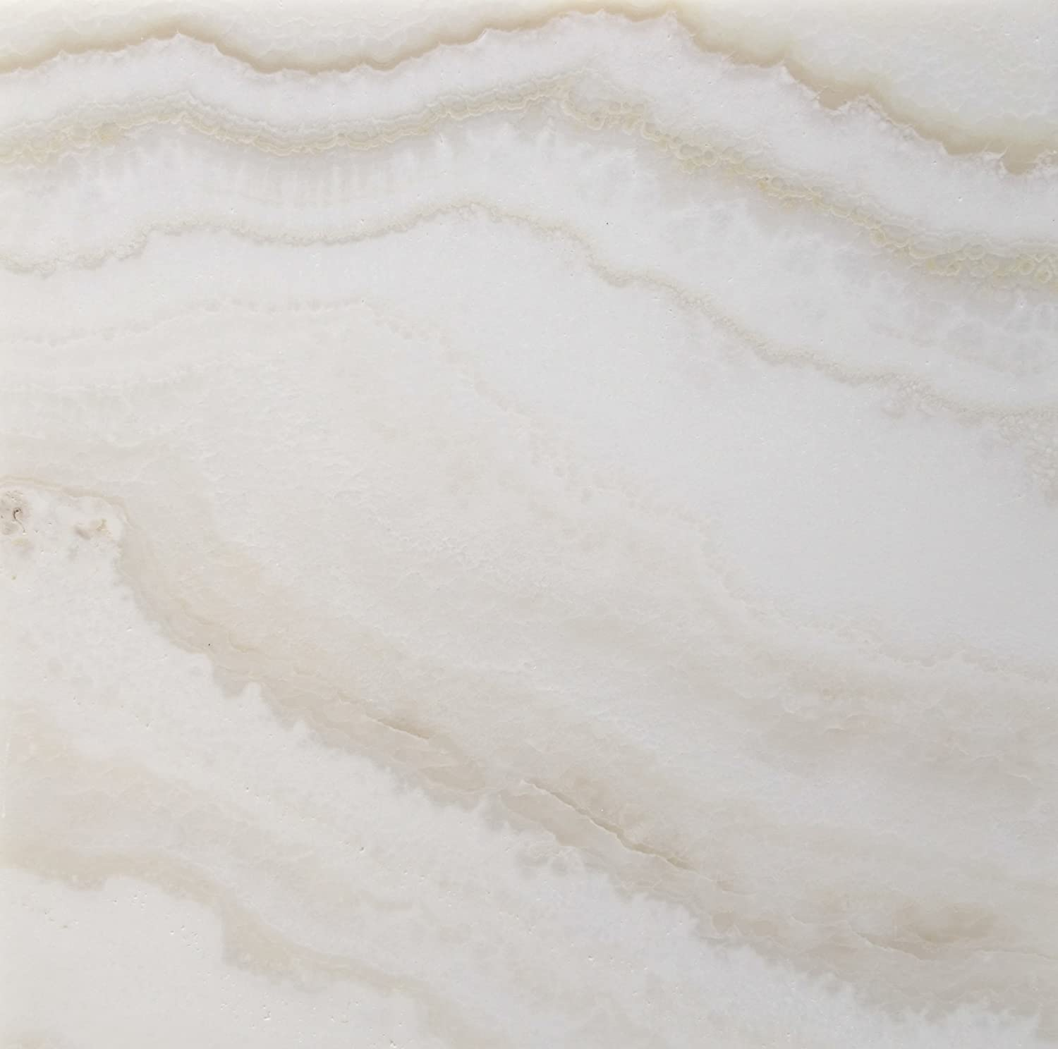 Premium White Onyx VEIN-CUT 12 X 12 Polished Tile - 2 pcs. 3\