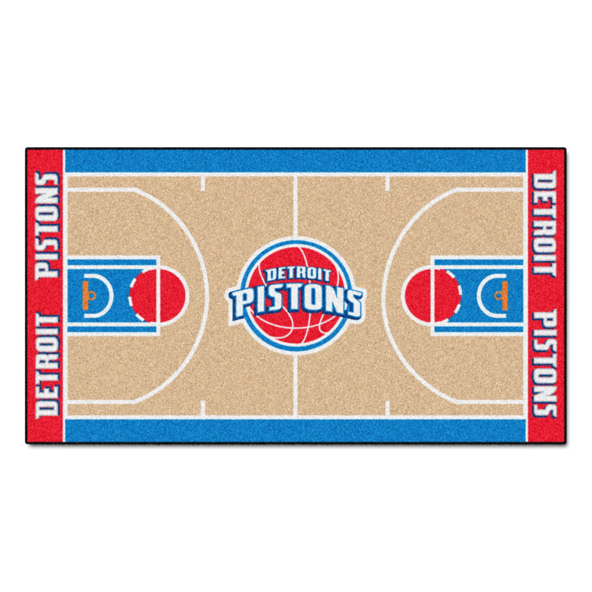 FANMATS NBA Detroit Pistons Nylon Face NBA Court Runner-Small
