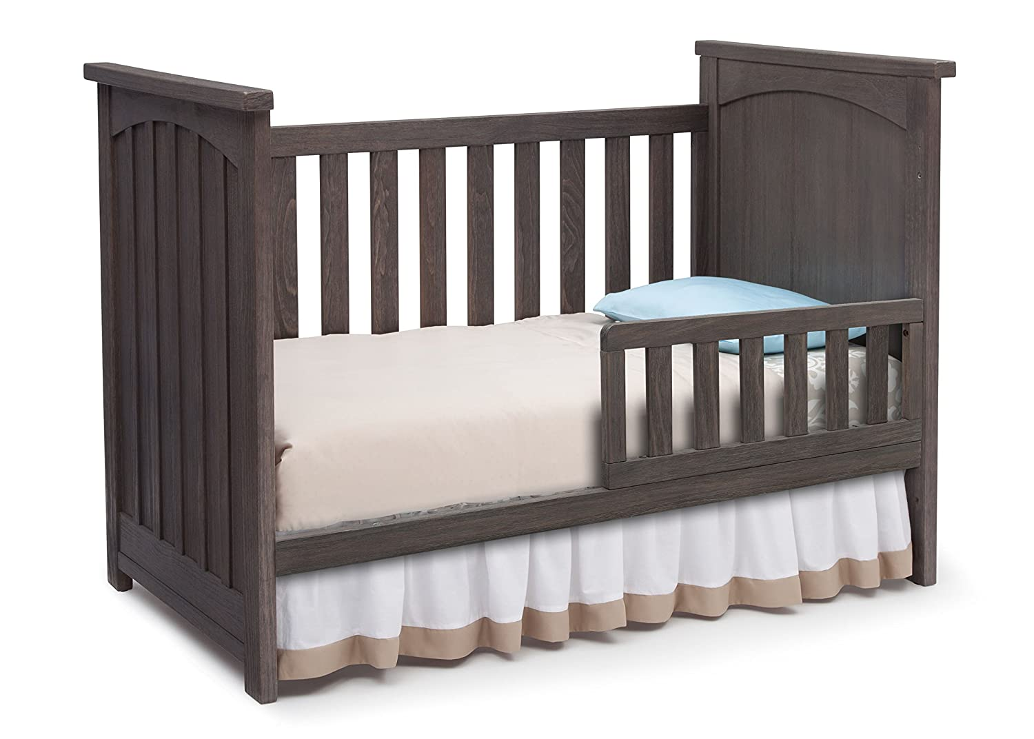 rustic crib furniture. amazoncom serta north 4piece nursery furniture set including free baby digital monitor ships separately crib 6 drawer dresser changing top and rustic v