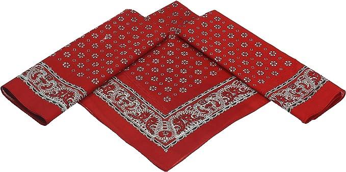 Betz paquete de 3 pañuelos bandanas XL con motivo floral tamaño ...
