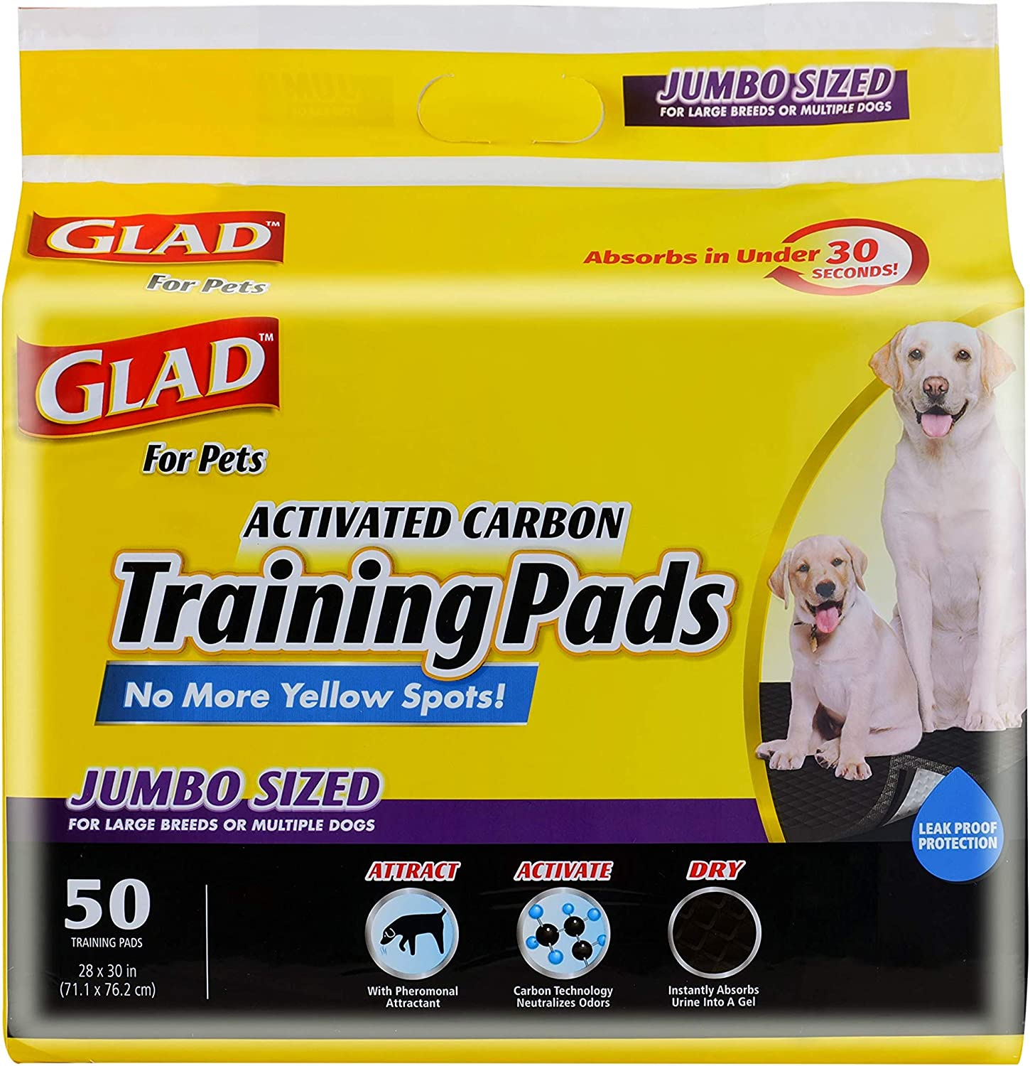 Glad Black Charcoal Puppy Pads $18.36 Coupon