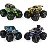Monster Jam, Official Reveal The Steel 4 Pack of Color-Changing Die-Cast Monster Trucks, 1: 64 Scale