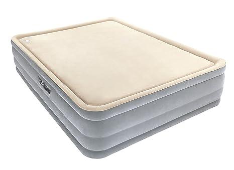 Bestway 67486 - Cama doble Hinchable Bestway Raised Foamtop Comfort (203 x 152 x 46 cm) Superficie flocada e inflador incorporado: Amazon.es: Deportes y ...