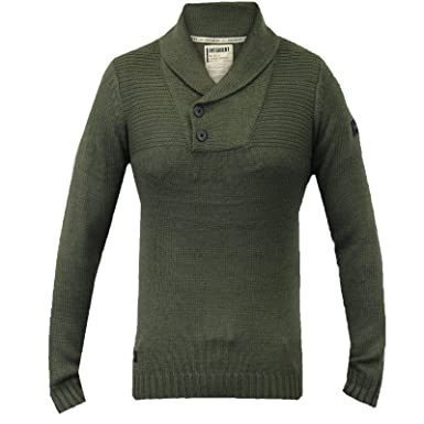 2176f157811 Pull homme dissidant NEUF Top tricoté pull d  Hiver Col Châle pull chaud -  Kaki