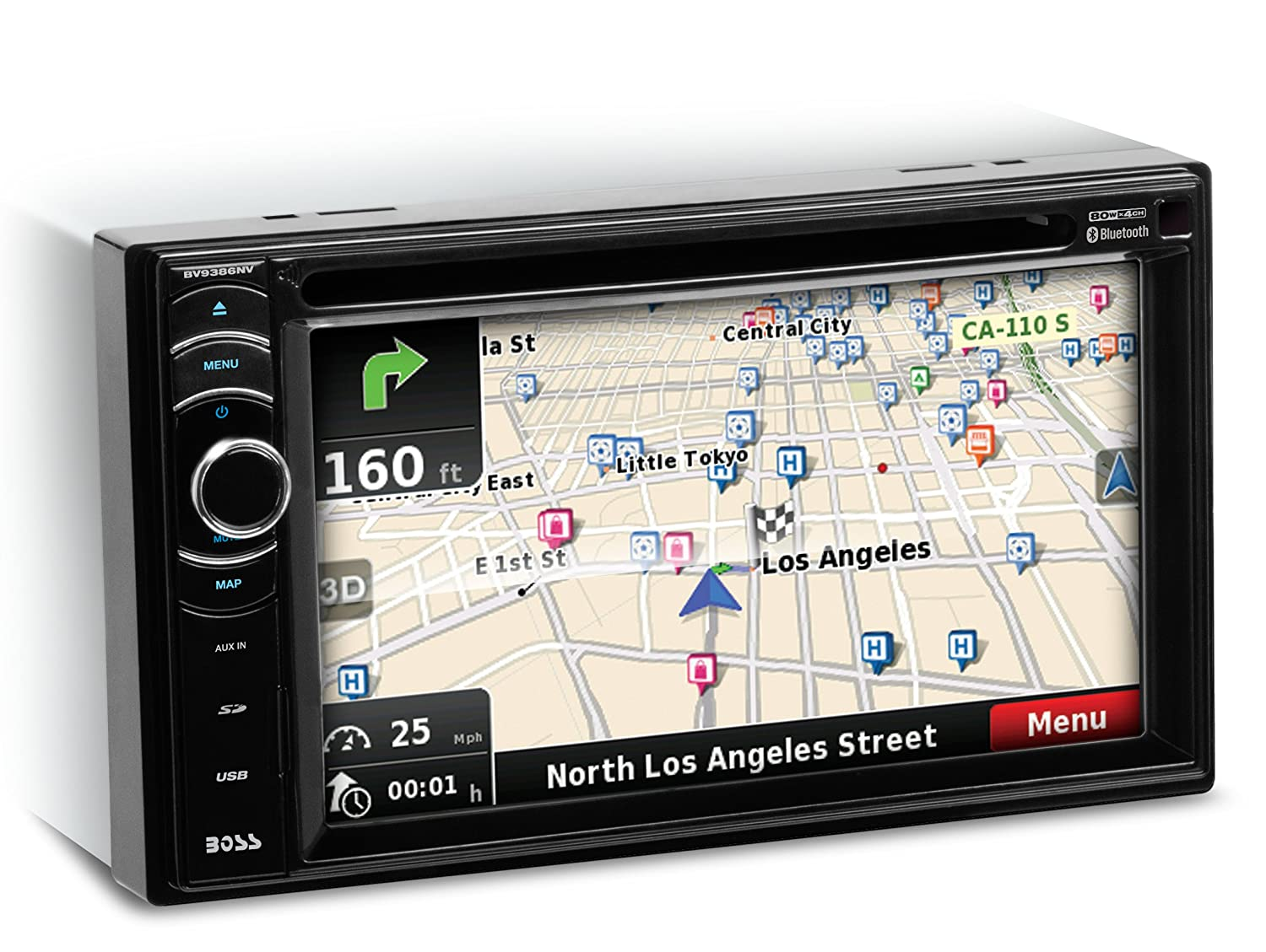 Amazoncom BOSS Audio BVNV Double Din Touchscreen Bluetooth - Los angeles navigation map
