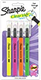 Sharpie Clear View Highlighter Stick, Assorted Colours, Pack of 4