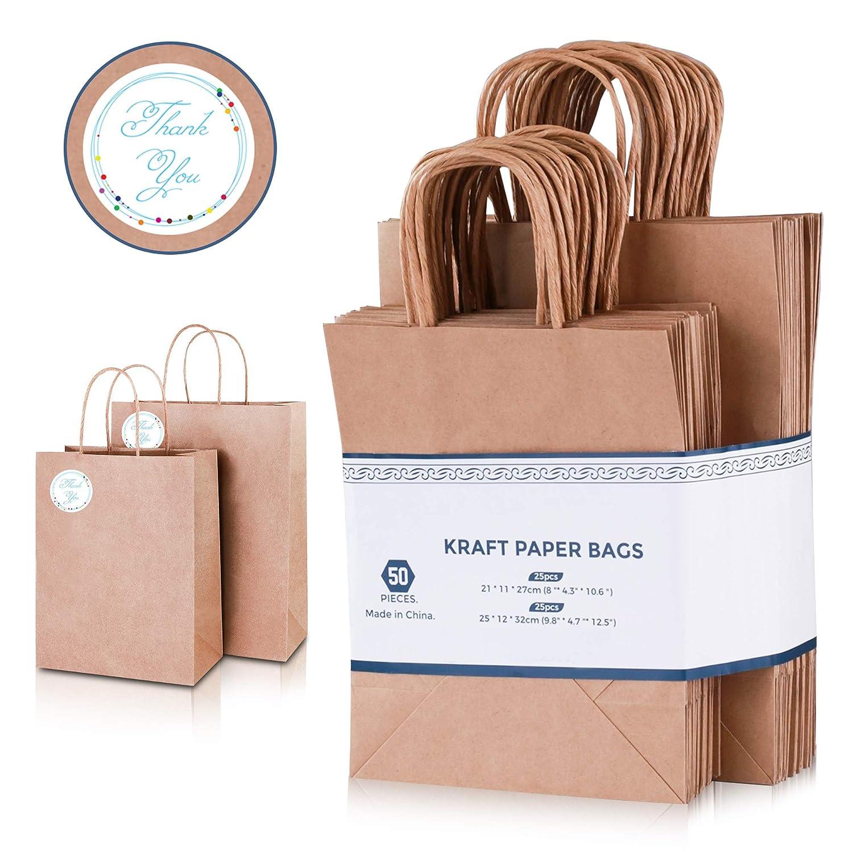 multiple size *PB002* 60gram Kraft Paper Bag 50pcs
