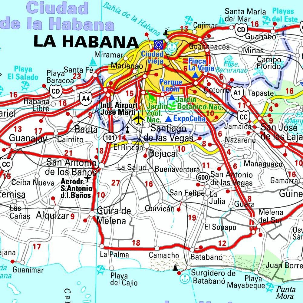 Carte Cuba Detaillee.Amazon Fr Carte National Cuba Michelin Collectif