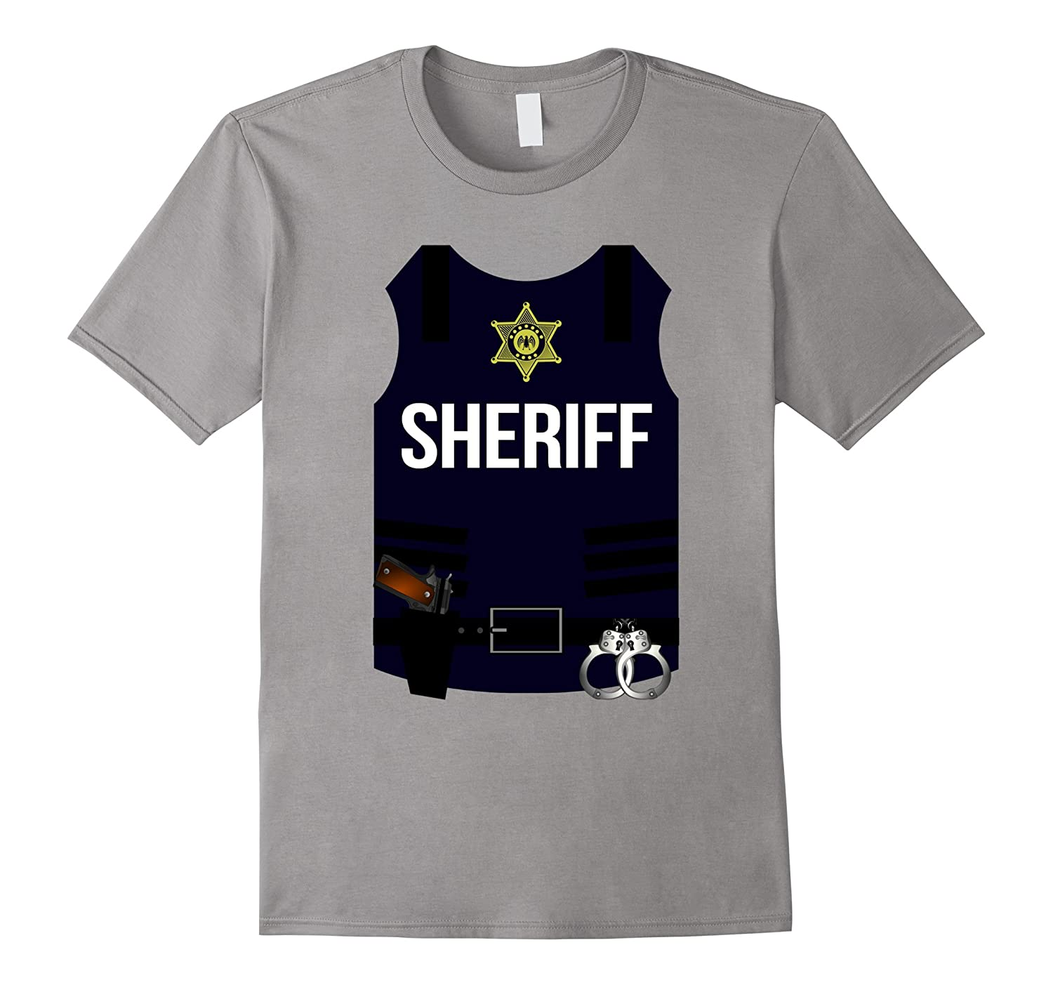 Sheriff Vest Halloween Costume Shirt - Cops Men Women Youth